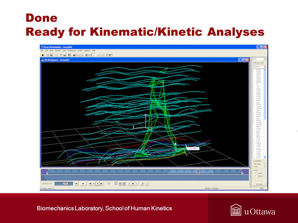 Done Ready for Kinematic/Kinetic Analyses