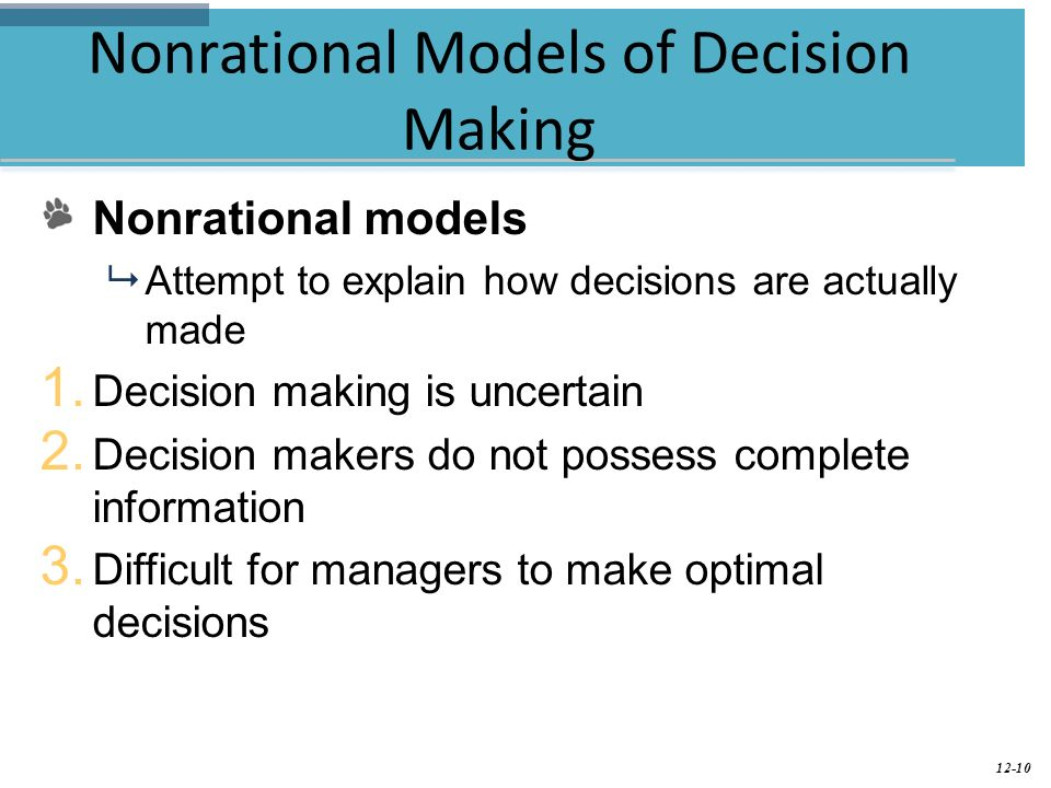 the rational model of decision making and simon s normative model Read this essay on rational decision making  are taught to utilize the rational and decision-making model using  the normative model of decision making,.