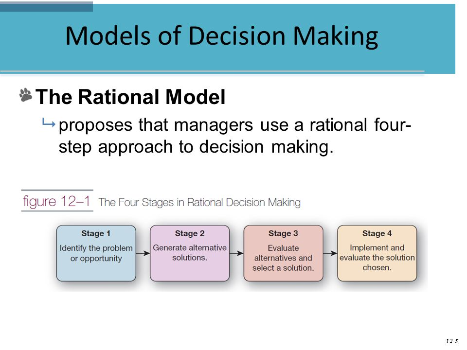 rational well-rounded concept connected with final choice making