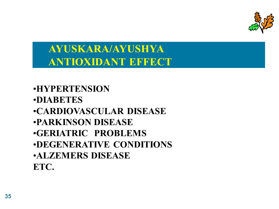 AYUSKARA/AYUSHYA ANTIOXIDANT EFFECT HYPERTENSION DIABETES
