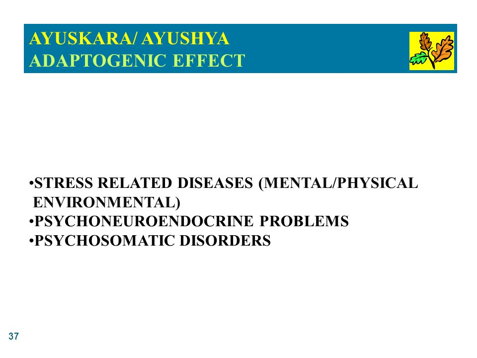 AYUSKARA/ AYUSHYA ADAPTOGENIC EFFECT