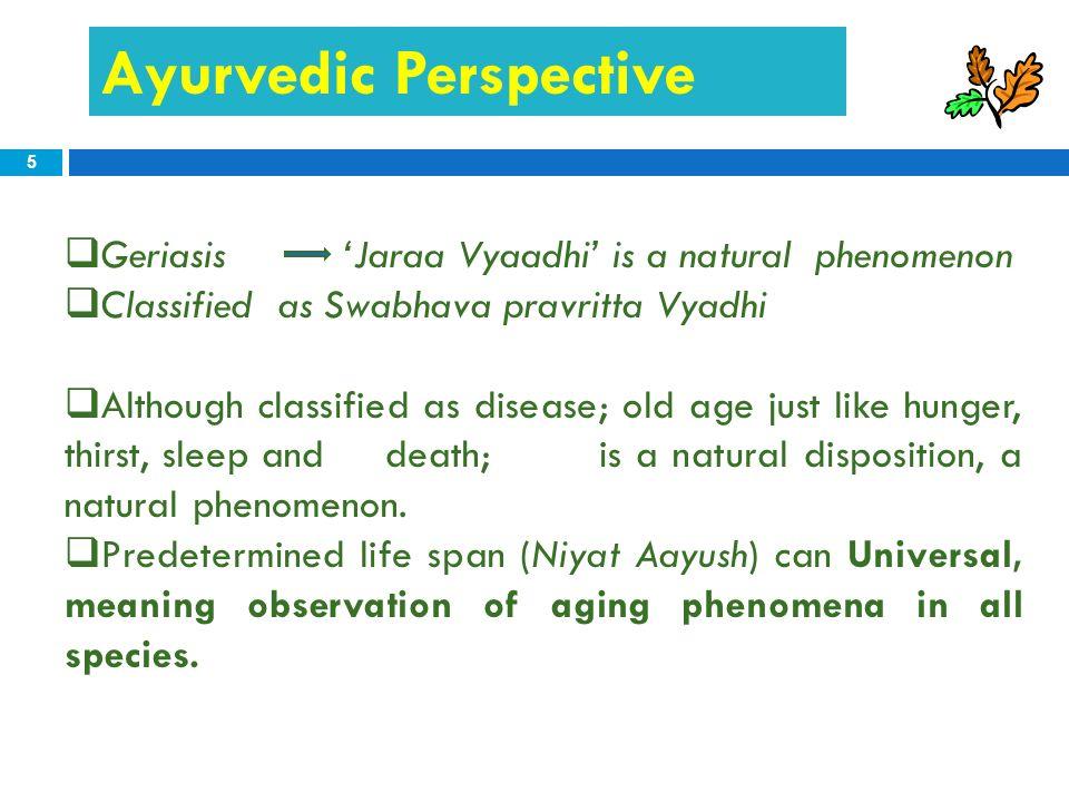 Ayurvedic Perspective