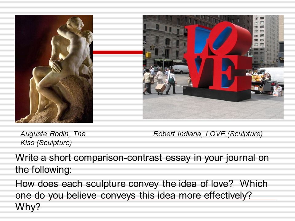 comparison and contrast essays ppt   e rodin the kiss sculpture