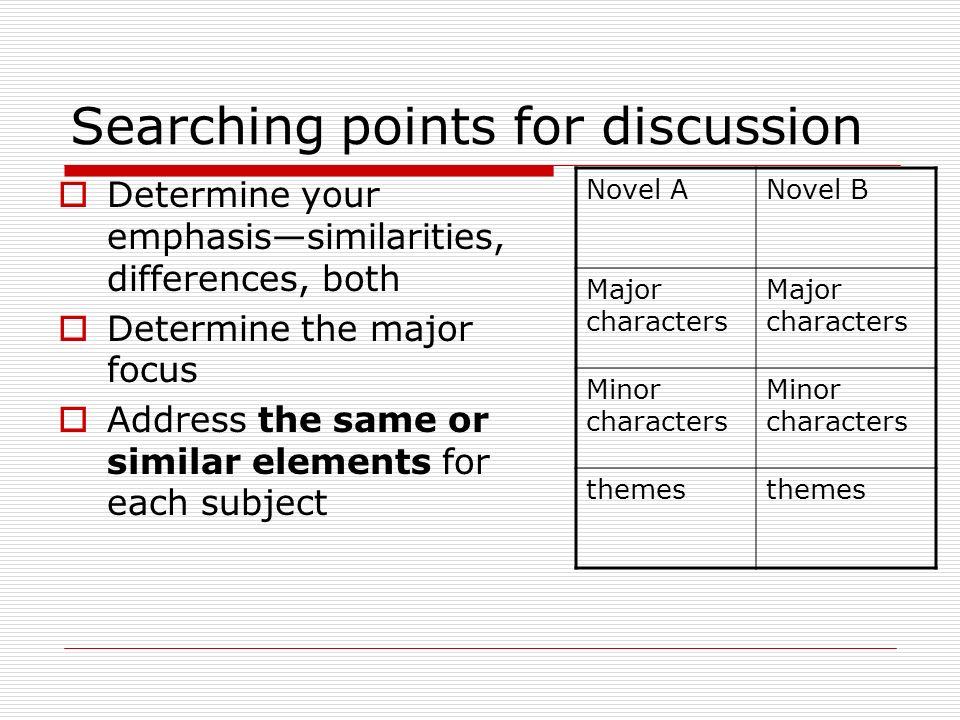 Themes comparison essay