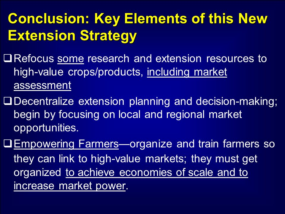 Conclusion: Key Elements of this New Extension Strategy