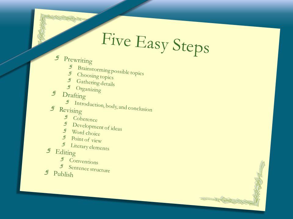 interpretive essay checklist