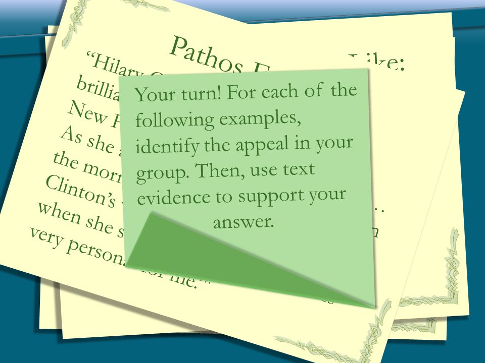 the effective use of pathos in personal writing Get a quick overview of three strategies for arguing in academic writinglogos, ethos, and pathos (no, they aren't the three musketeers.