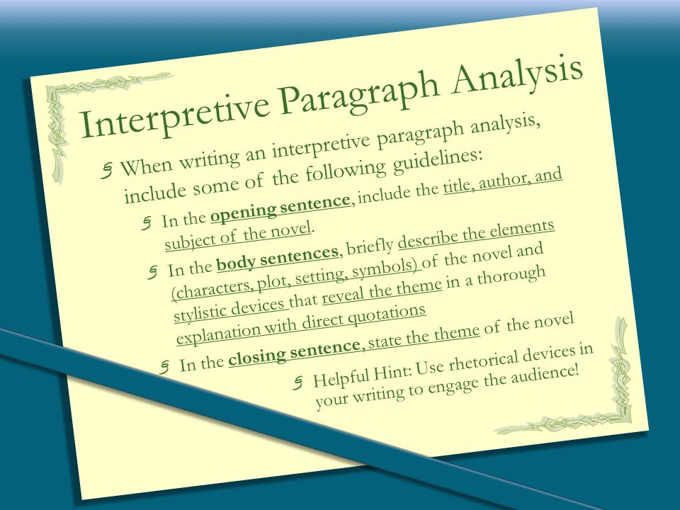 What is nation essay analytical interpretive