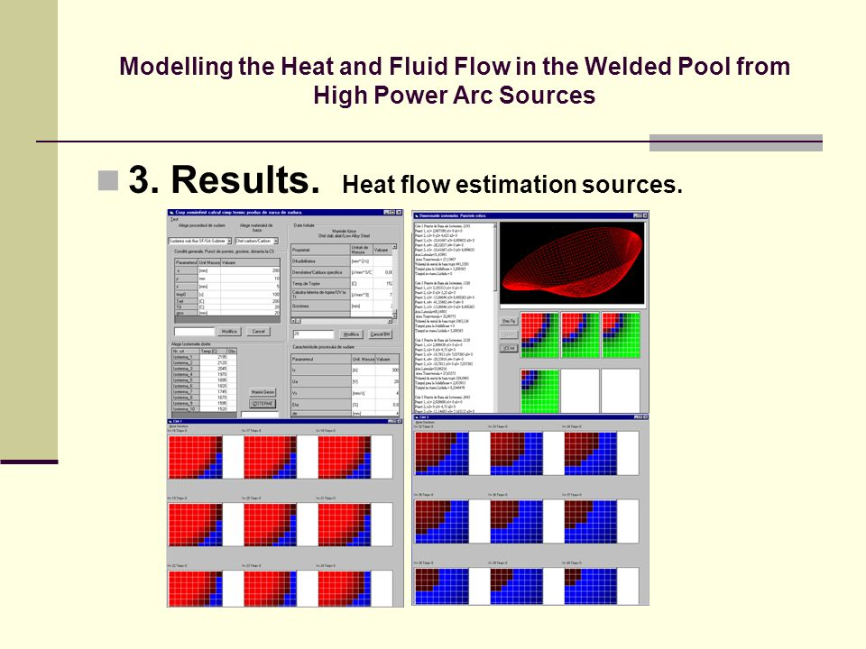3. Results. Heat flow estimation sources.