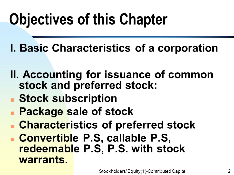 Accounting For Stock Warrants