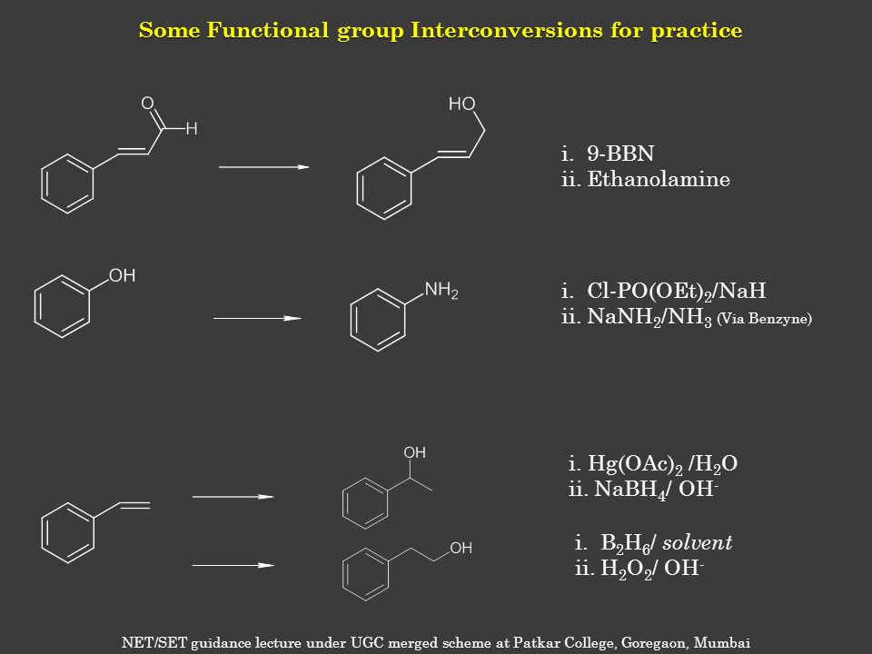 Some Functional group Interconversions for practice