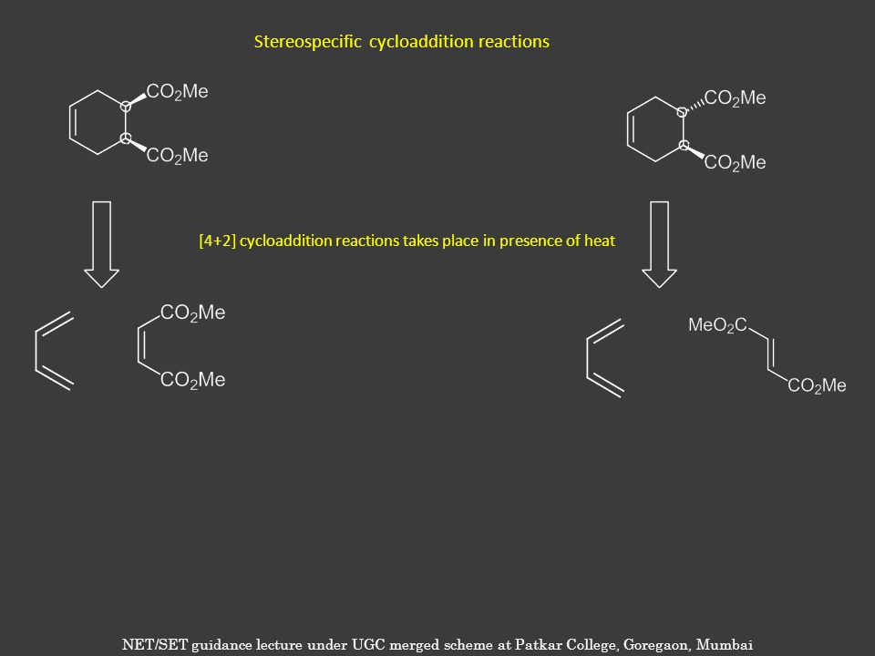 Stereospecific cycloaddition reactions