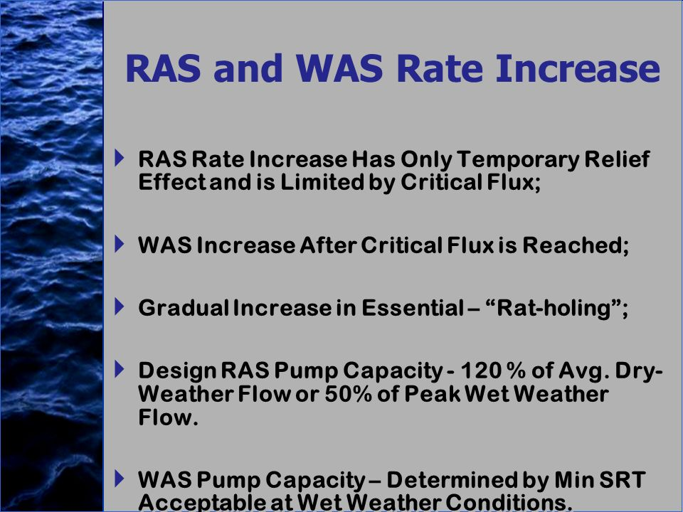 RAS and WAS Rate Increase