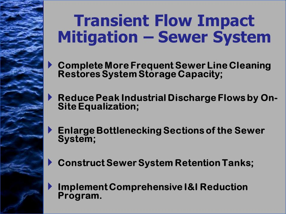 Transient Flow Impact Mitigation – Sewer System