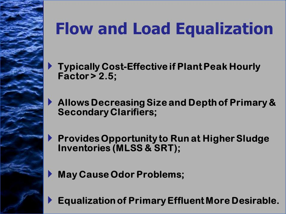 Flow and Load Equalization