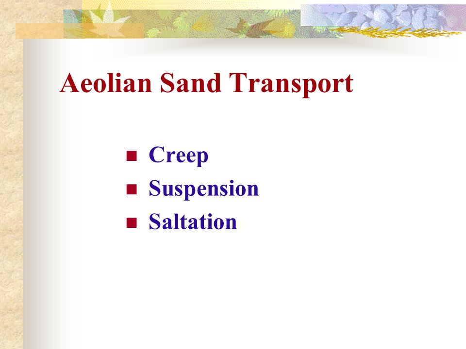 Aeolian Sand Transport