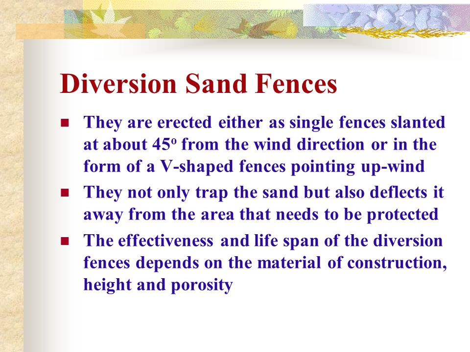 Diversion Sand Fences
