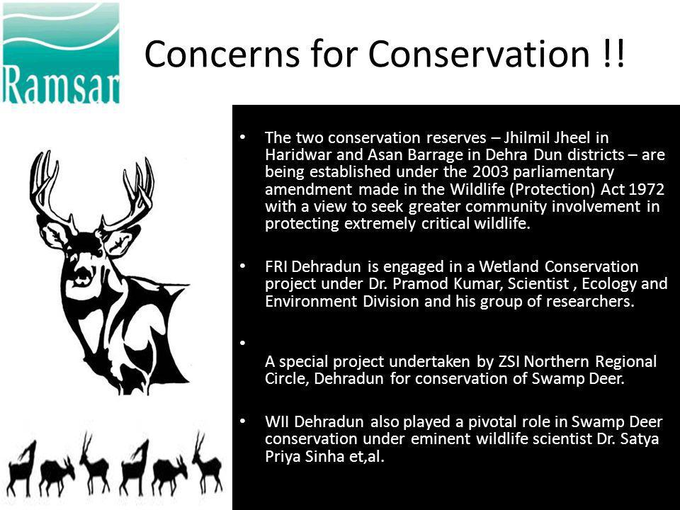 Concerns for Conservation !!
