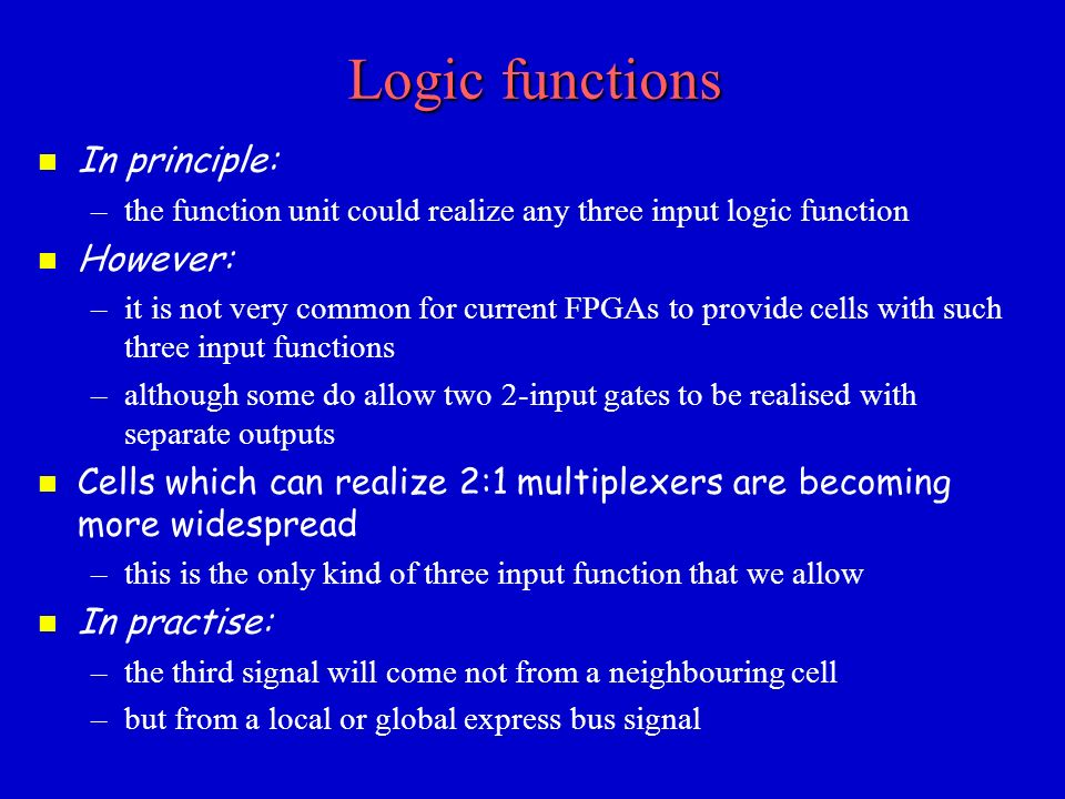 realization of logic functions Realization of regular t ernary logic f unctions using double-rail logic y ukihiro iguchi y tsutom u sasao z munehiro ma tsuura z atsum u iseno y y dept of computer science.
