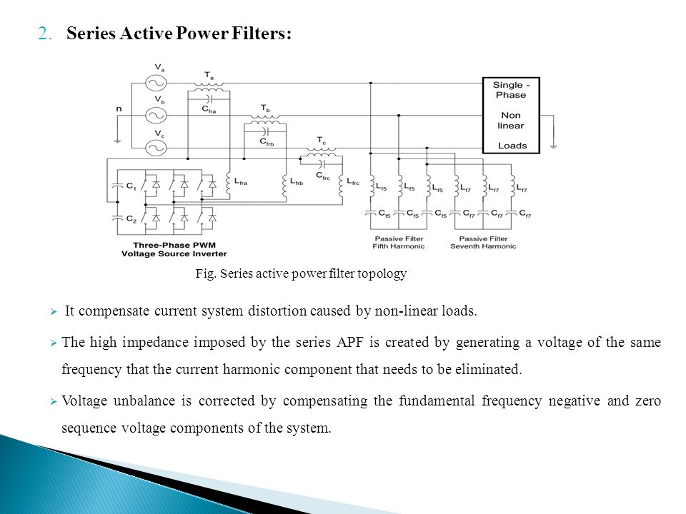 2. Series Active Power Filters: