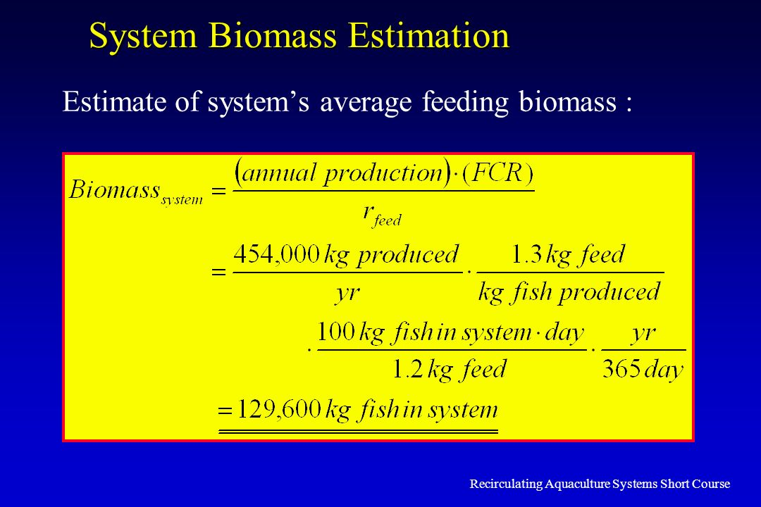System Biomass Estimation