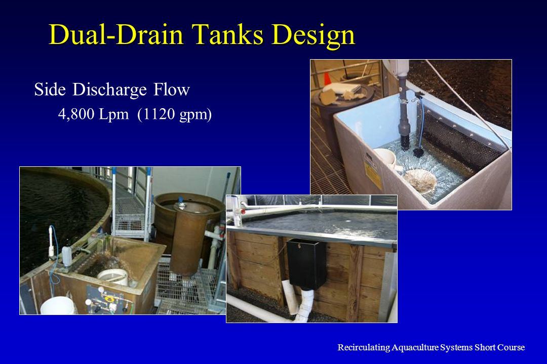 Dual-Drain Tanks Design
