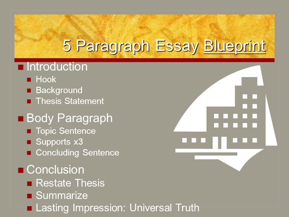 blueprint thesis essay