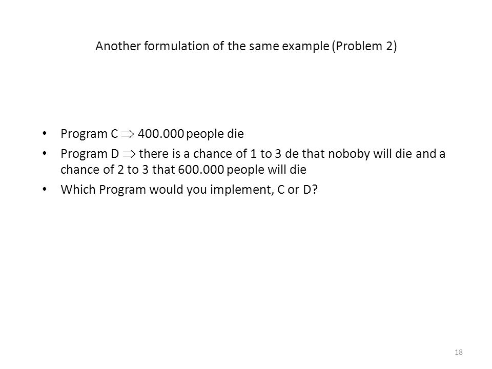 Another formulation of the same example (Problem 2)