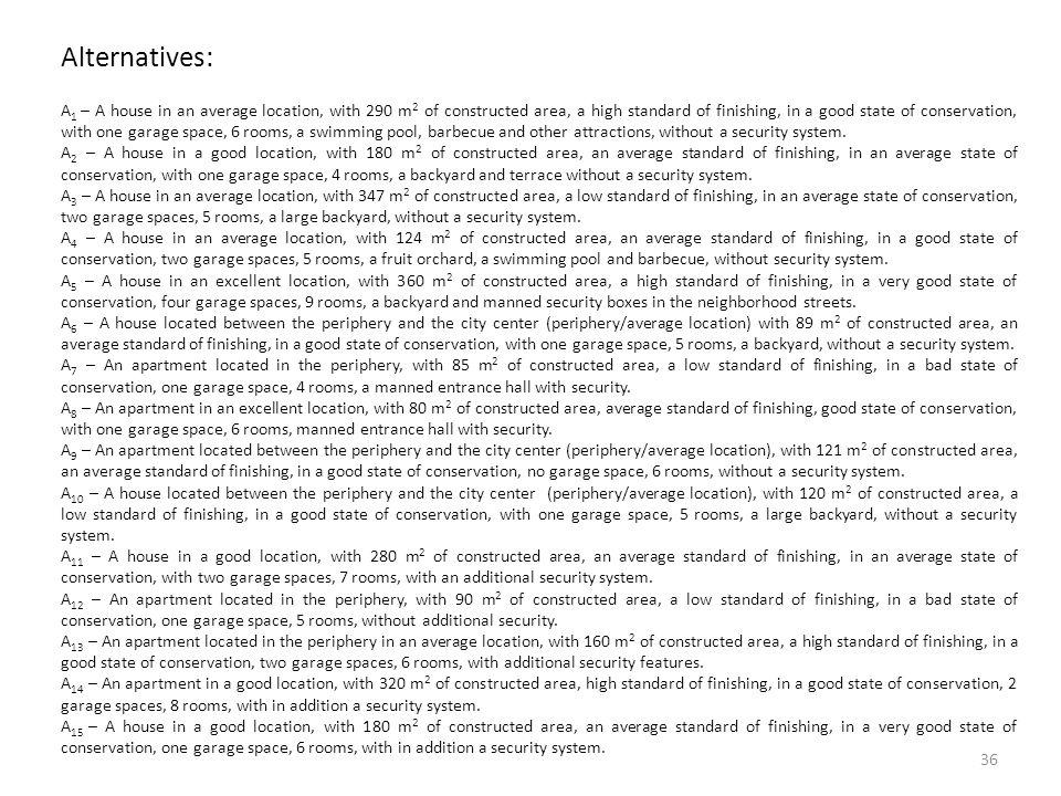 Alternatives: