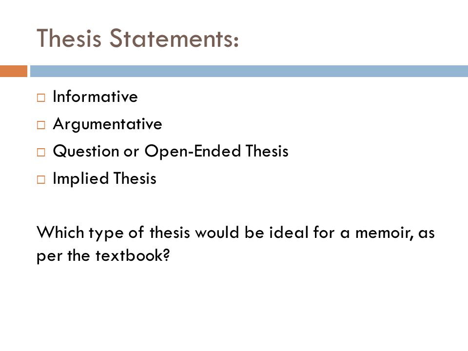 Implied thesis