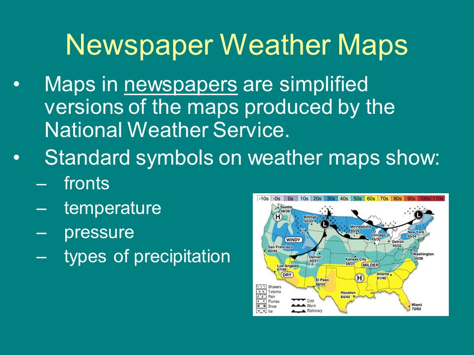 Newspaper Weather Maps