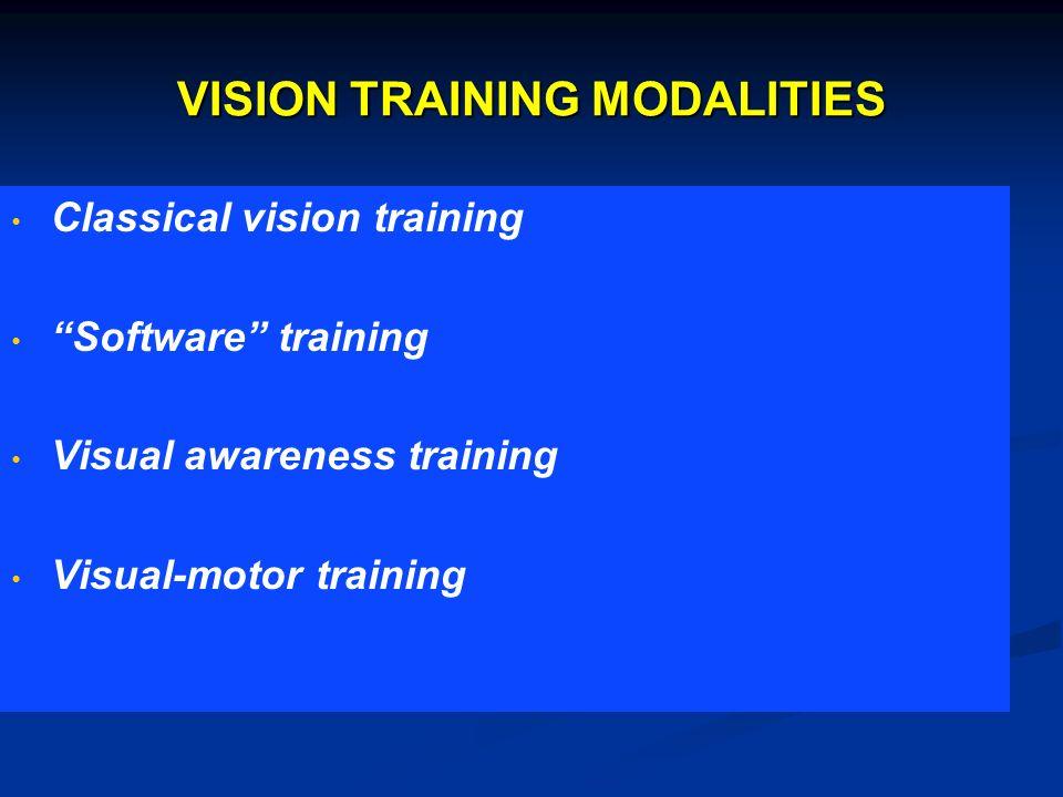 VISION TRAINING MODALITIES
