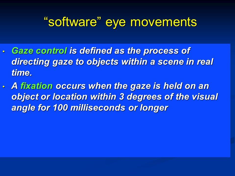 software eye movements