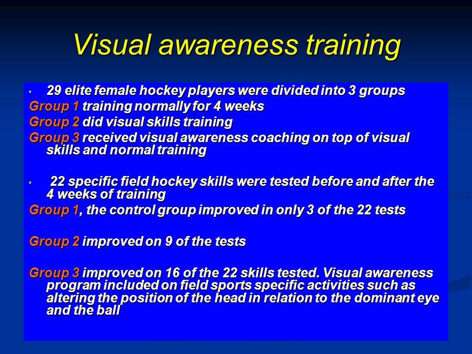 Visual awareness training