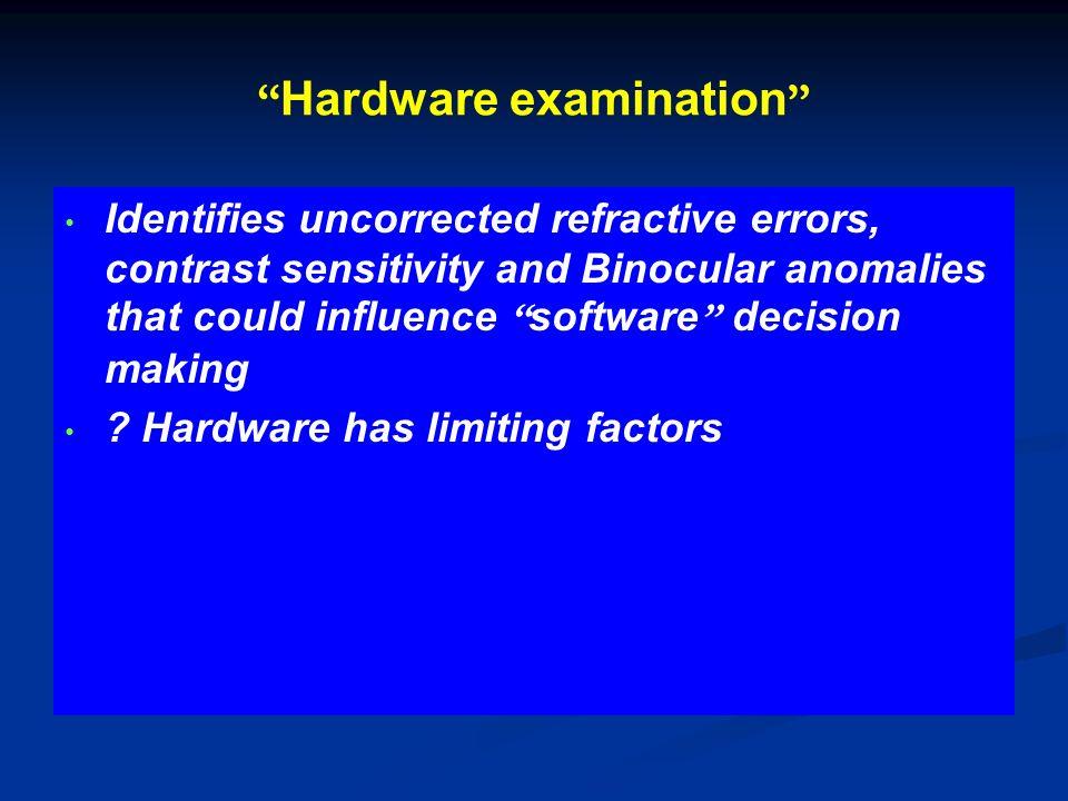 Hardware examination