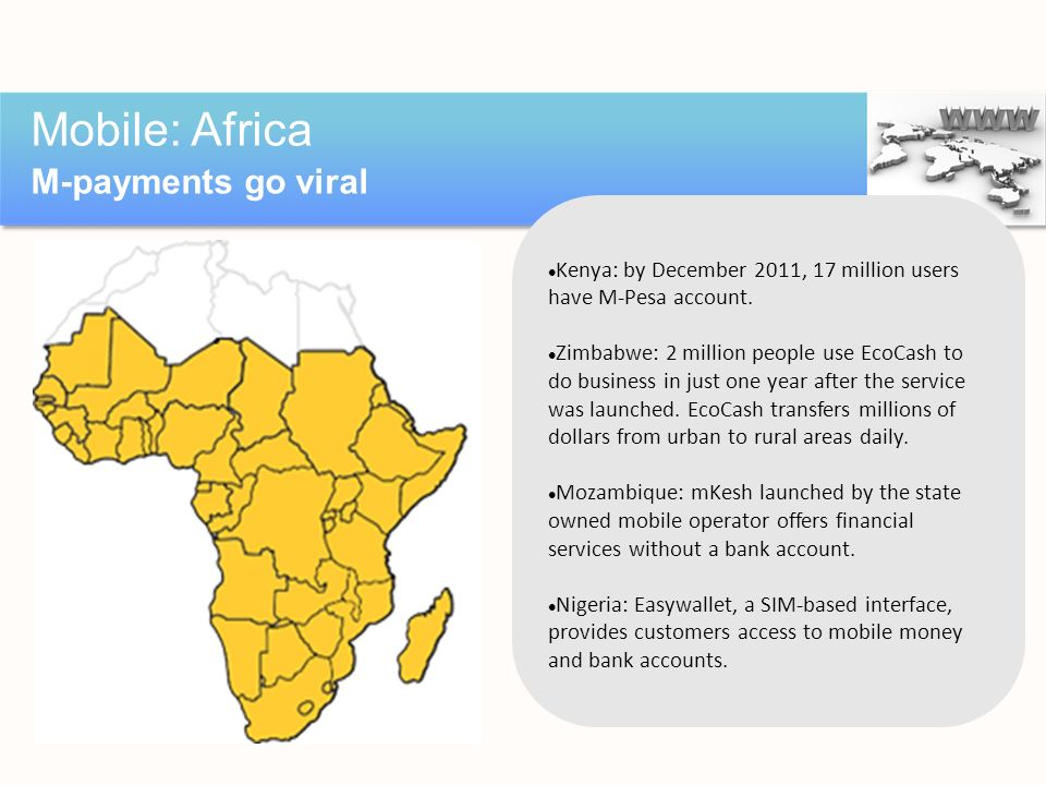 Mobile: Africa M-payments go viral