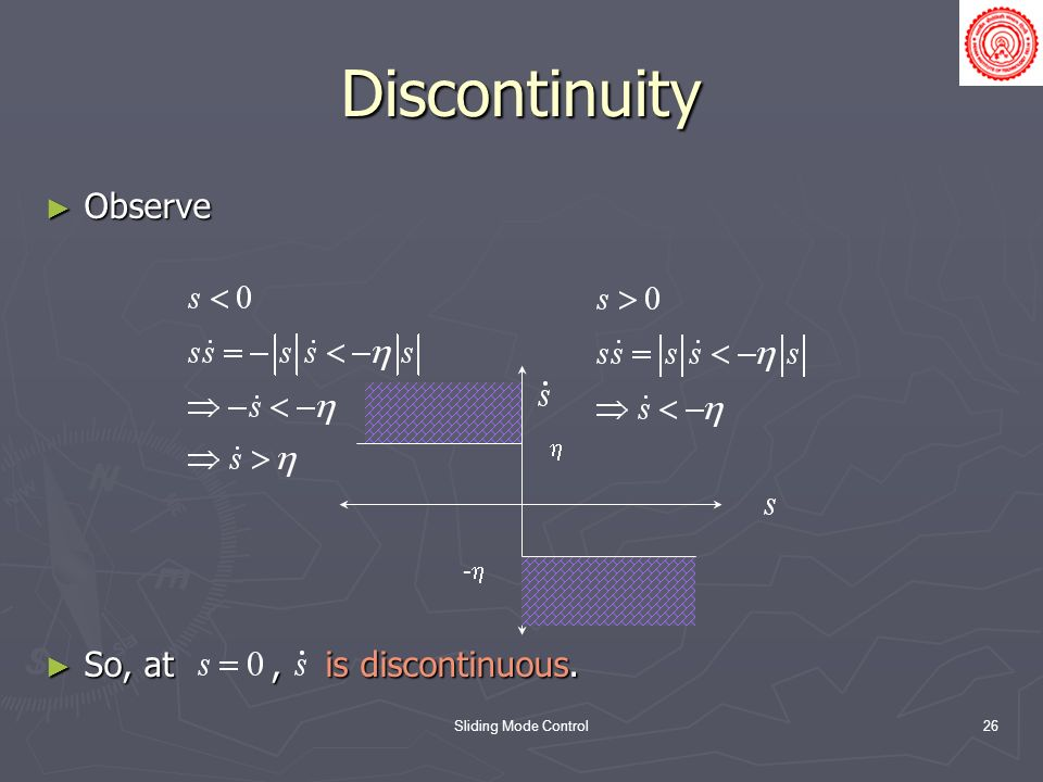 Discontinuity Observe So, at , is discontinuous.  -