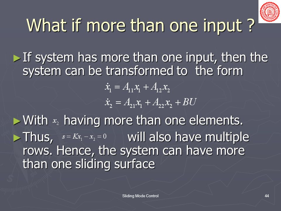 What if more than one input
