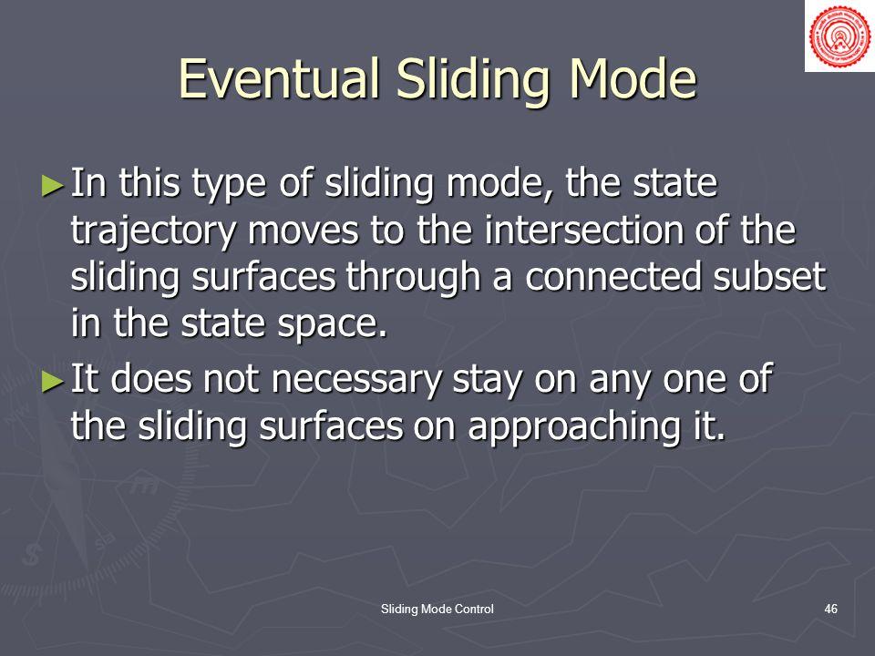 Eventual Sliding Mode