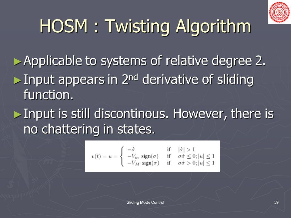 HOSM : Twisting Algorithm