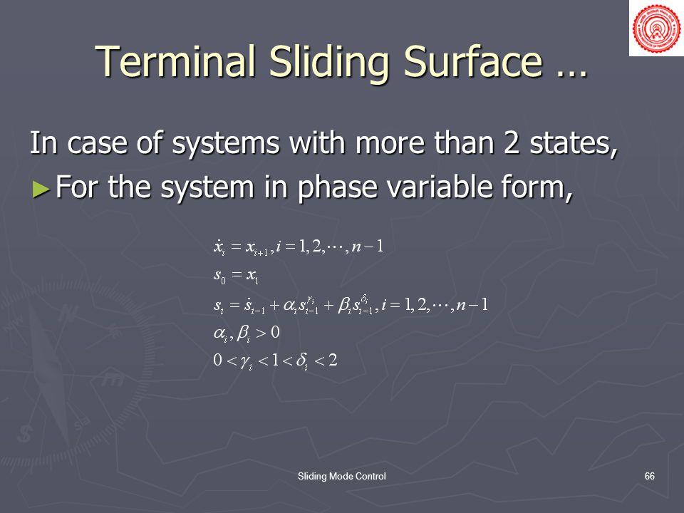 Terminal Sliding Surface …