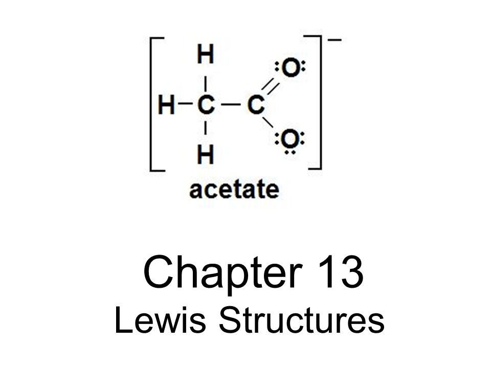 Acetate Ion Lewis Structure