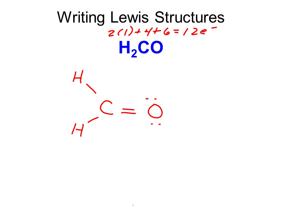 Chapter 13 Lewis Structures. - ppt video online download H2coh Lewis Structure