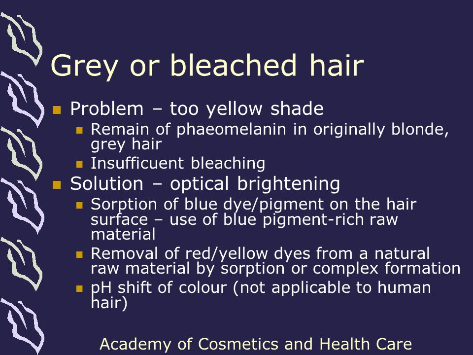 Grey or bleached hair Problem – too yellow shade