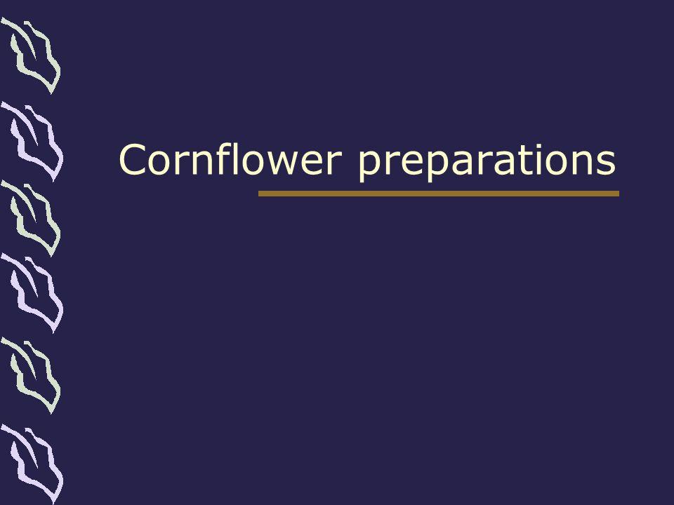 Cornflower preparations