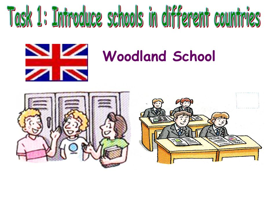 Task 1: Introduce schools in different countries