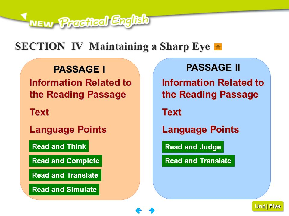 SECTION IV Maintaining a Sharp Eye