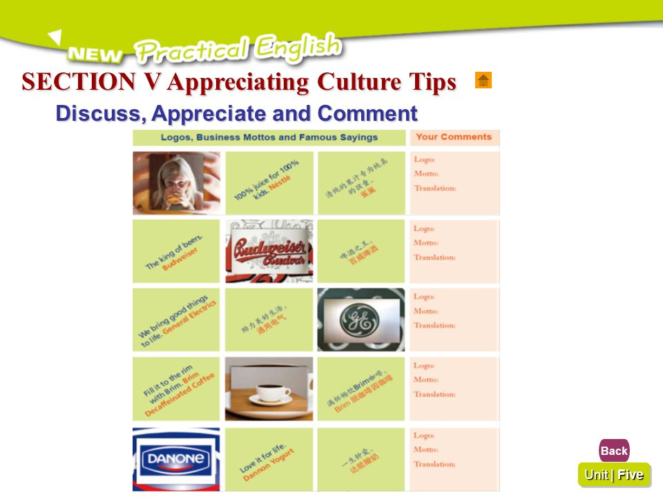 SECTION V Appreciating Culture Tips