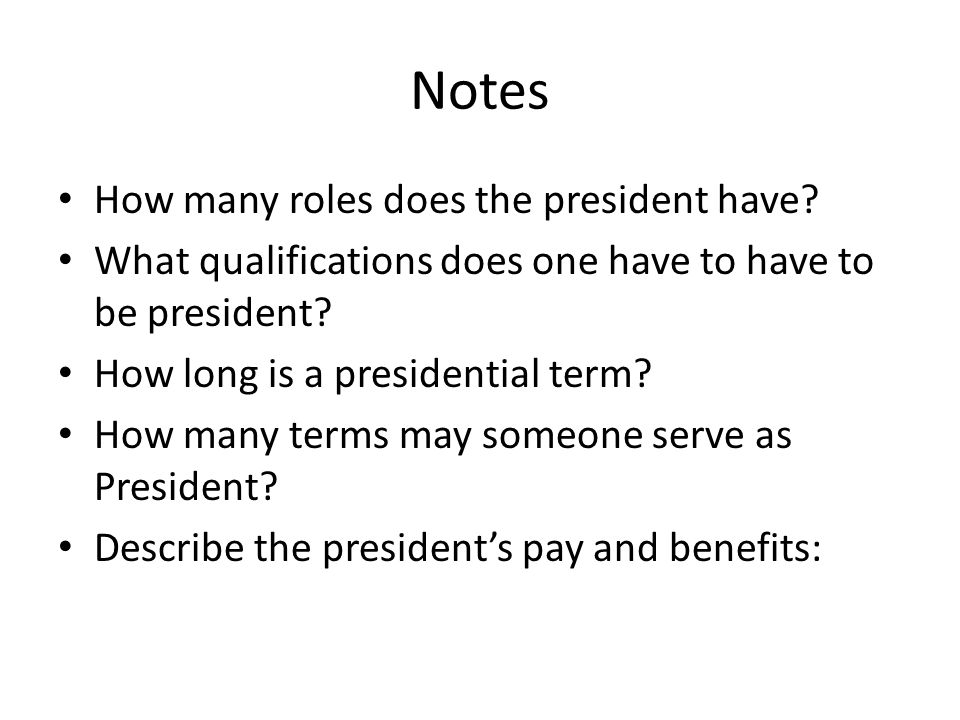 President Job Description Sample - 8+ Examples In Word