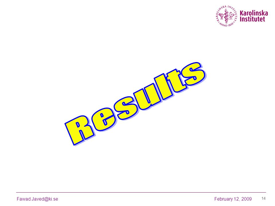 Results February 12, 2009